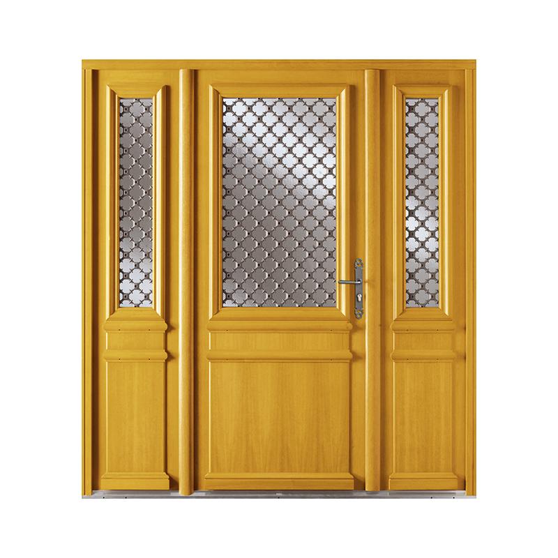 Pose porte d entr e bois alu devis pour l installation of for Porte exterieure vitree