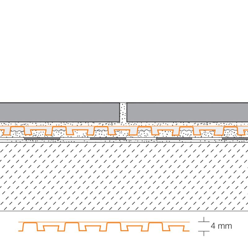 Natte de drainage schl ter ditra drain les mat riaux for Natte de drainage sous carrelage