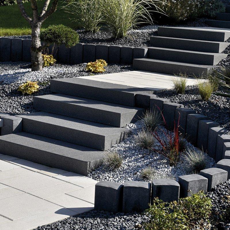 Bloc marche blocs marches escaliers les mat riaux - Marche en pierre exterieur ...