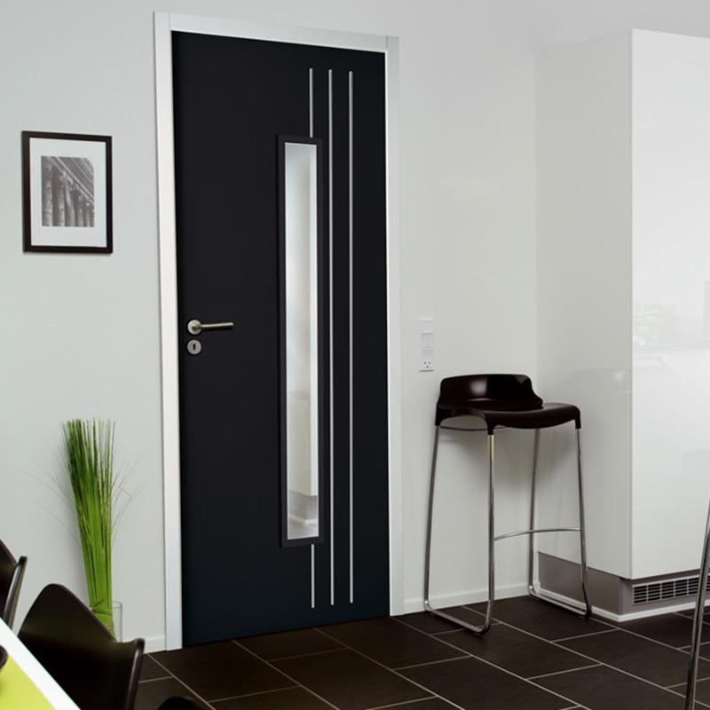 Porte groove lin a les mat riaux for Porte interieur isolante