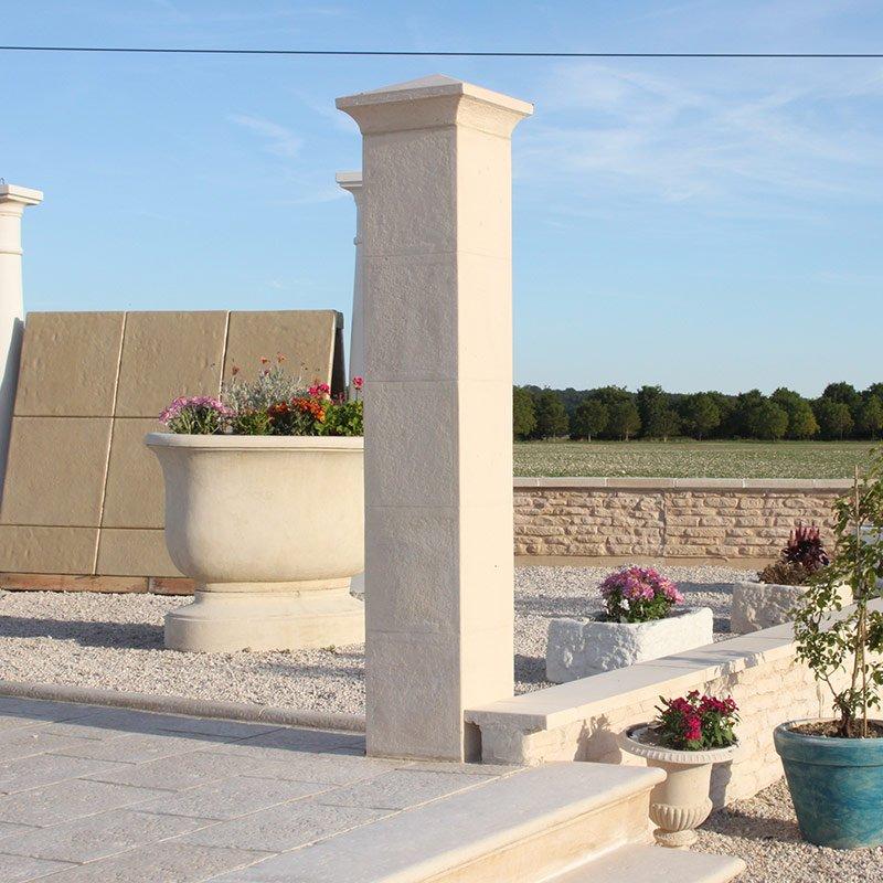 pilier d co murs couvertines parements les mat riaux