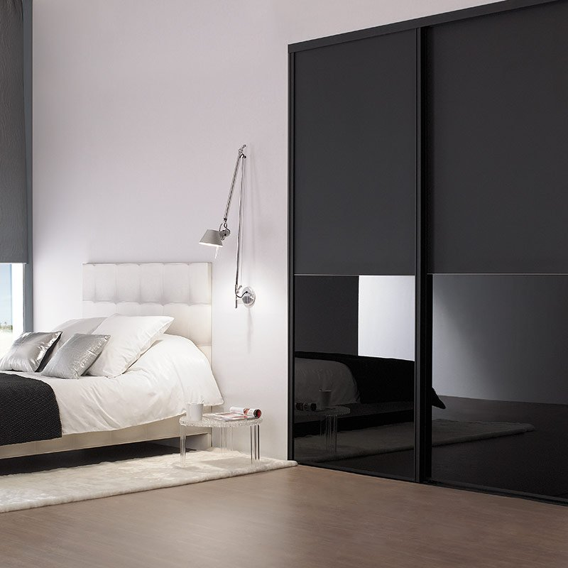 coulissant diamant noir mat les mat riaux. Black Bedroom Furniture Sets. Home Design Ideas