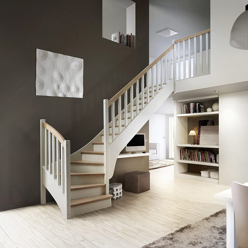 Escalier mod le f1 dl les mat riaux - Exemple escalier interieur ...