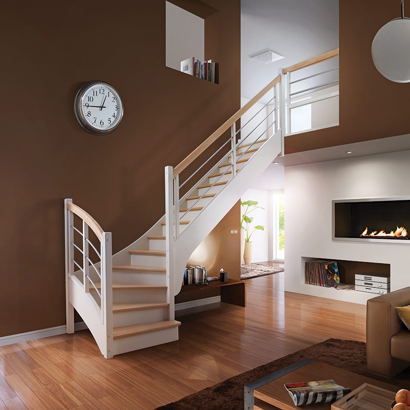 escalier quart tournant avec contremarche flin f72 les mat riaux escaliers et garde corps. Black Bedroom Furniture Sets. Home Design Ideas