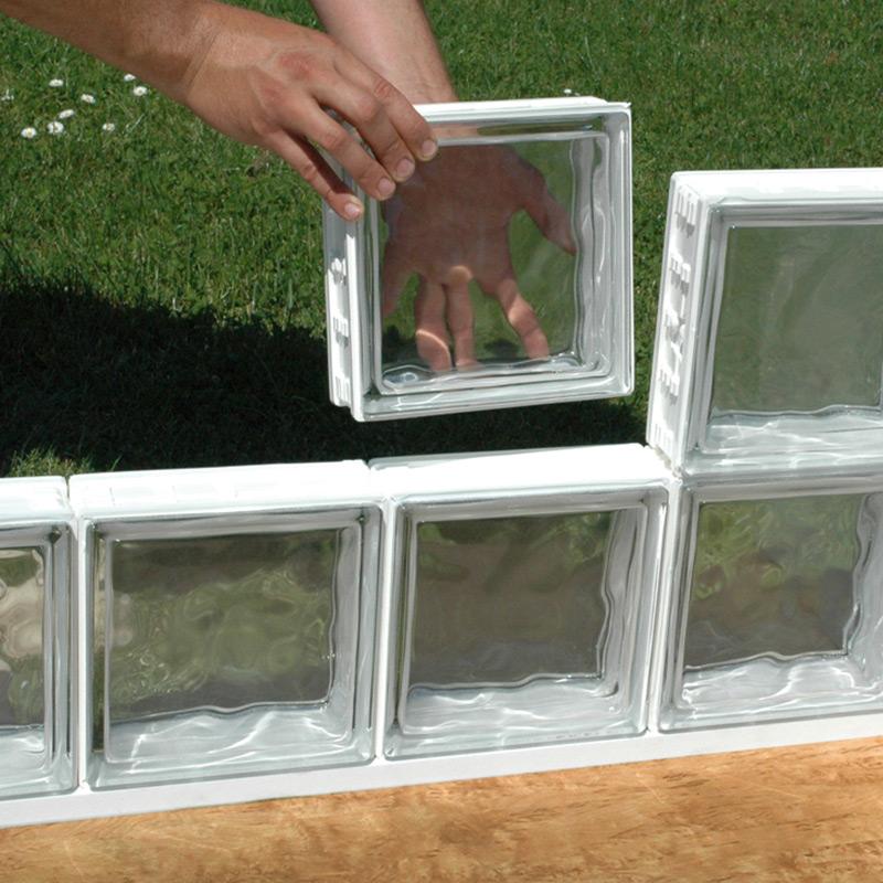Brique De Verre Cubiver Les Mat Riaux Montage Brique De Verre Exterieur