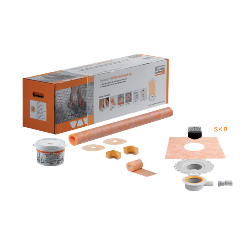Kit complet d tanch it schl ter kerdi shower sk skb les mat riaux - Kit d etancheite pour douche italienne ...
