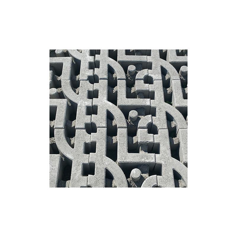 Gazon synth tique gris clair dalles dalle gazon drainante cespes gris clair les - Gazon synthetique gris ...