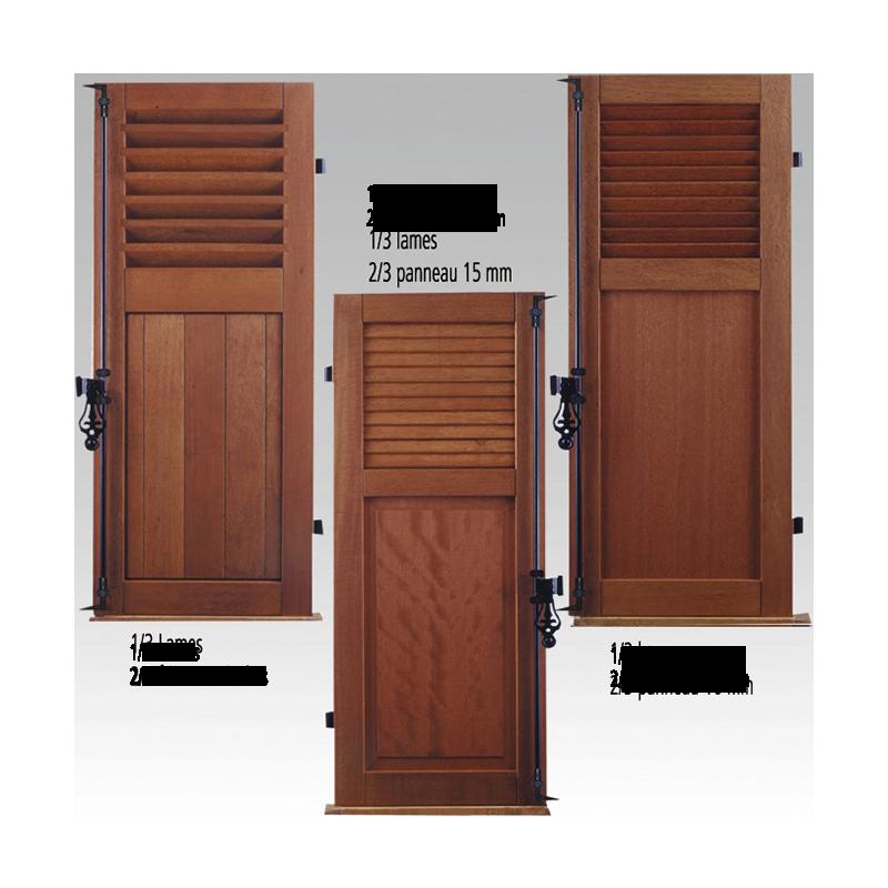 volets battants en bois les mat riaux. Black Bedroom Furniture Sets. Home Design Ideas