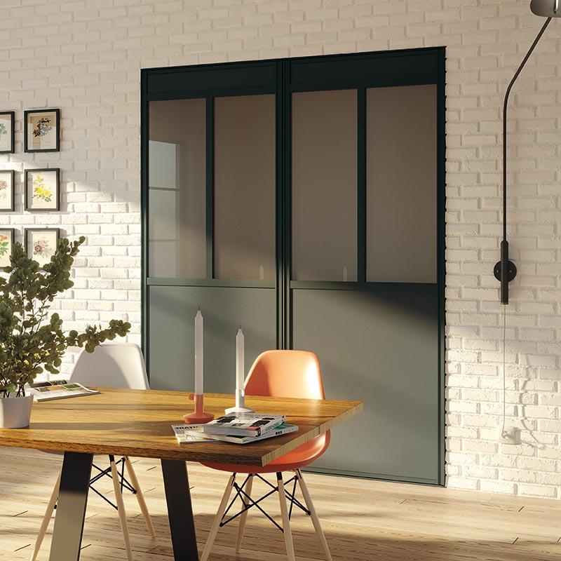 porte de placard diamant atelier coulidoor les mat riaux. Black Bedroom Furniture Sets. Home Design Ideas