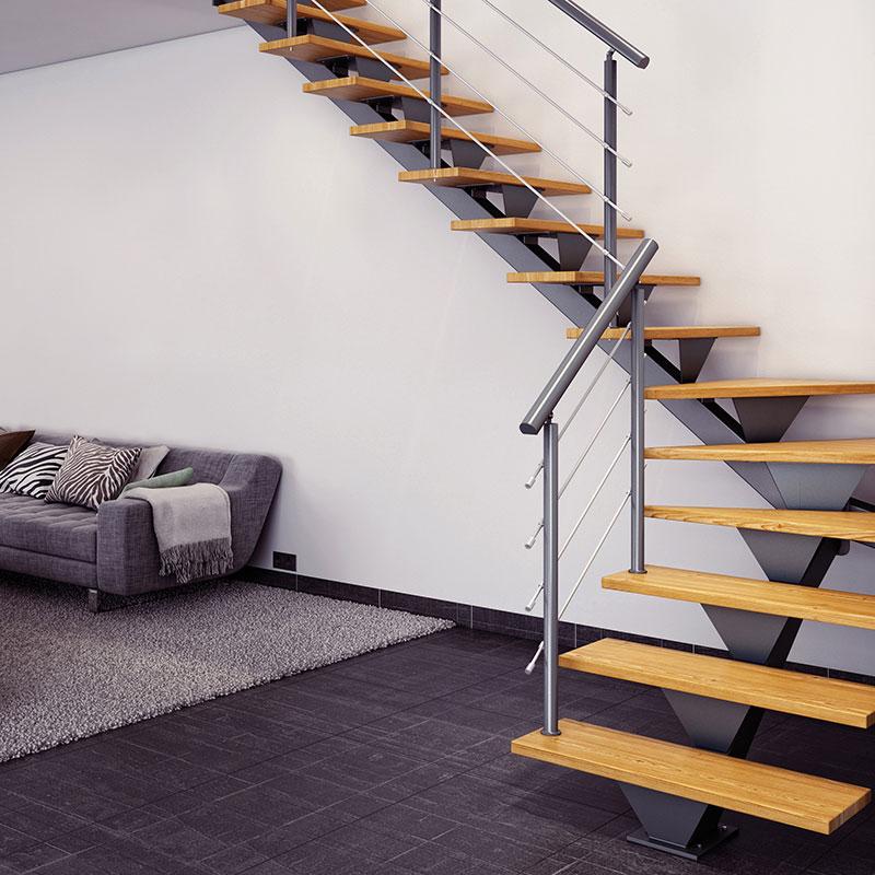 Escalier Aster limon central EBA | Les Matériaux