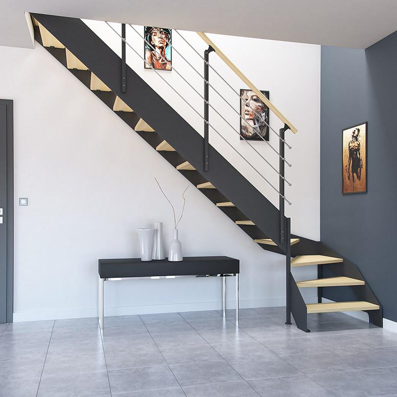 Escalier bois métal boreal | Les Matériaux