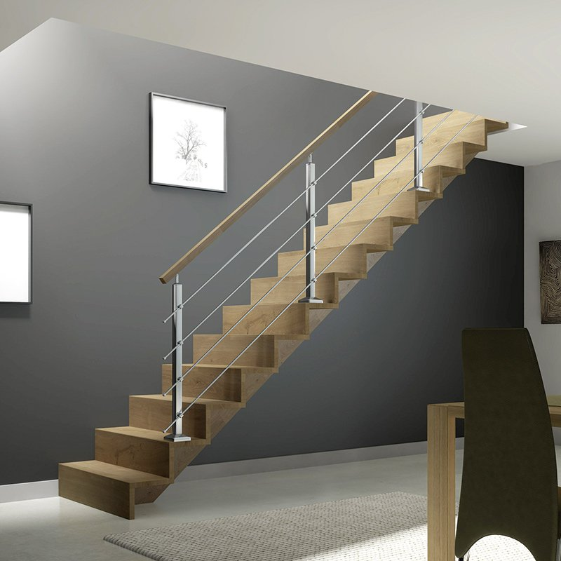 escalier mod le f0 icgar flin les mat riaux. Black Bedroom Furniture Sets. Home Design Ideas