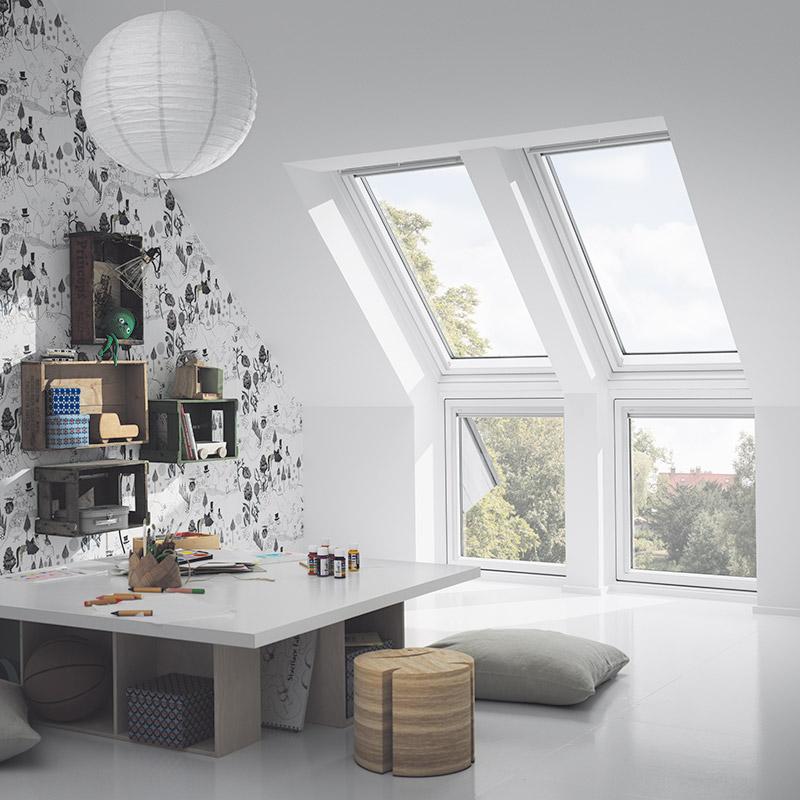verri re d angle velux les mat riaux. Black Bedroom Furniture Sets. Home Design Ideas