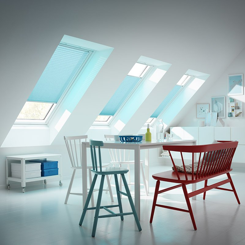 Stores tamisants velux velux les mat riaux for Store velux interieur