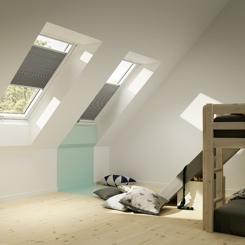 stores int rieur stores occultants velux les mat riaux. Black Bedroom Furniture Sets. Home Design Ideas