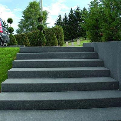 Escalier ext rieur et blocs marches les mat riaux for Escalier exterieur 6 marches