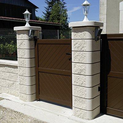 murs couvertines parements piliers les mat riaux. Black Bedroom Furniture Sets. Home Design Ideas