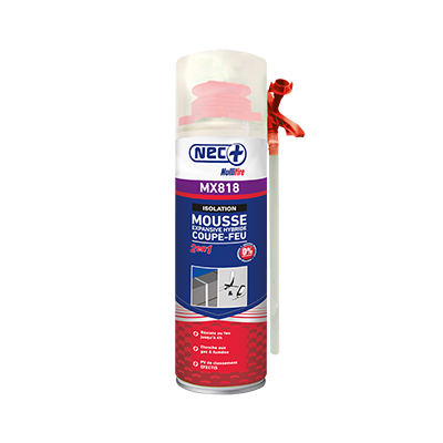 Mousse expansive Coupe feu mx818 Nec+ illbruck