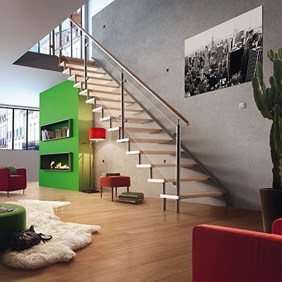 Escalier h lico dal kara les mat riaux for Amenagement escalier interieur