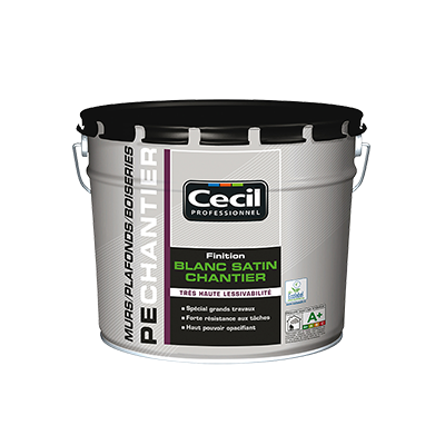 Peinture de finition blanc satin chantier Cecil Pro