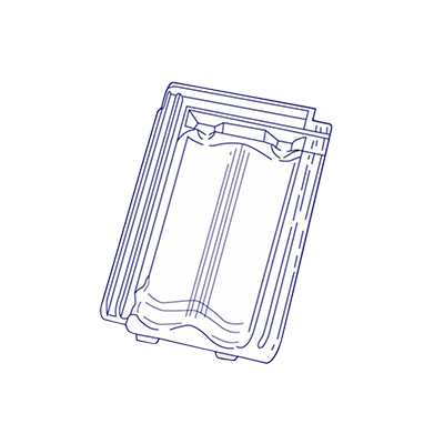 tuile en verre h14 huguenot les mat riaux. Black Bedroom Furniture Sets. Home Design Ideas