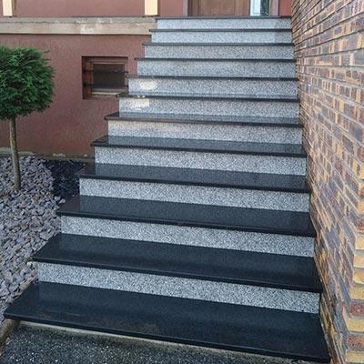 Escalier Extérieur Et Blocs Marches Les Matériaux