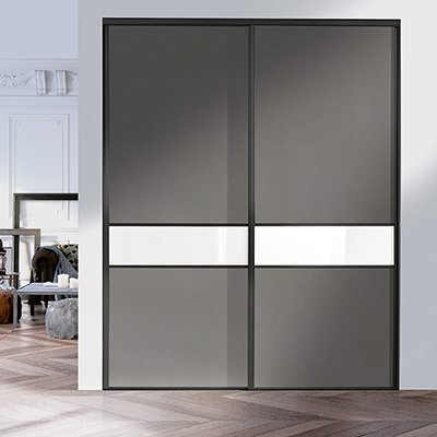 PORTES COULISSANTES STRASS ANTHRACITE LAQUÉ Coulidoor