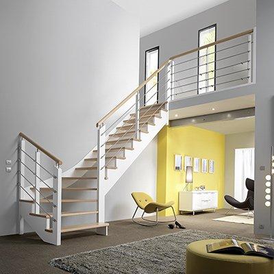 Escalier et garde corps pour votre logement les mat riaux - Comment fermer un escalier ...