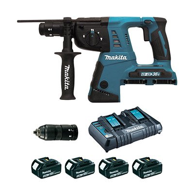 PERFO-BURINEUR SDS-PLUS 36 V LiION 5 Ah 26 MM (4 BATTERIES) Makita